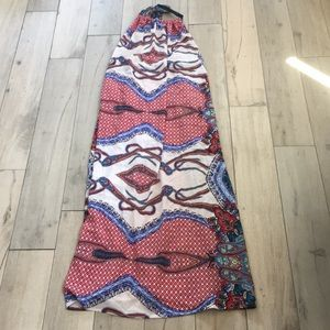 Elan boho halter maxi dress